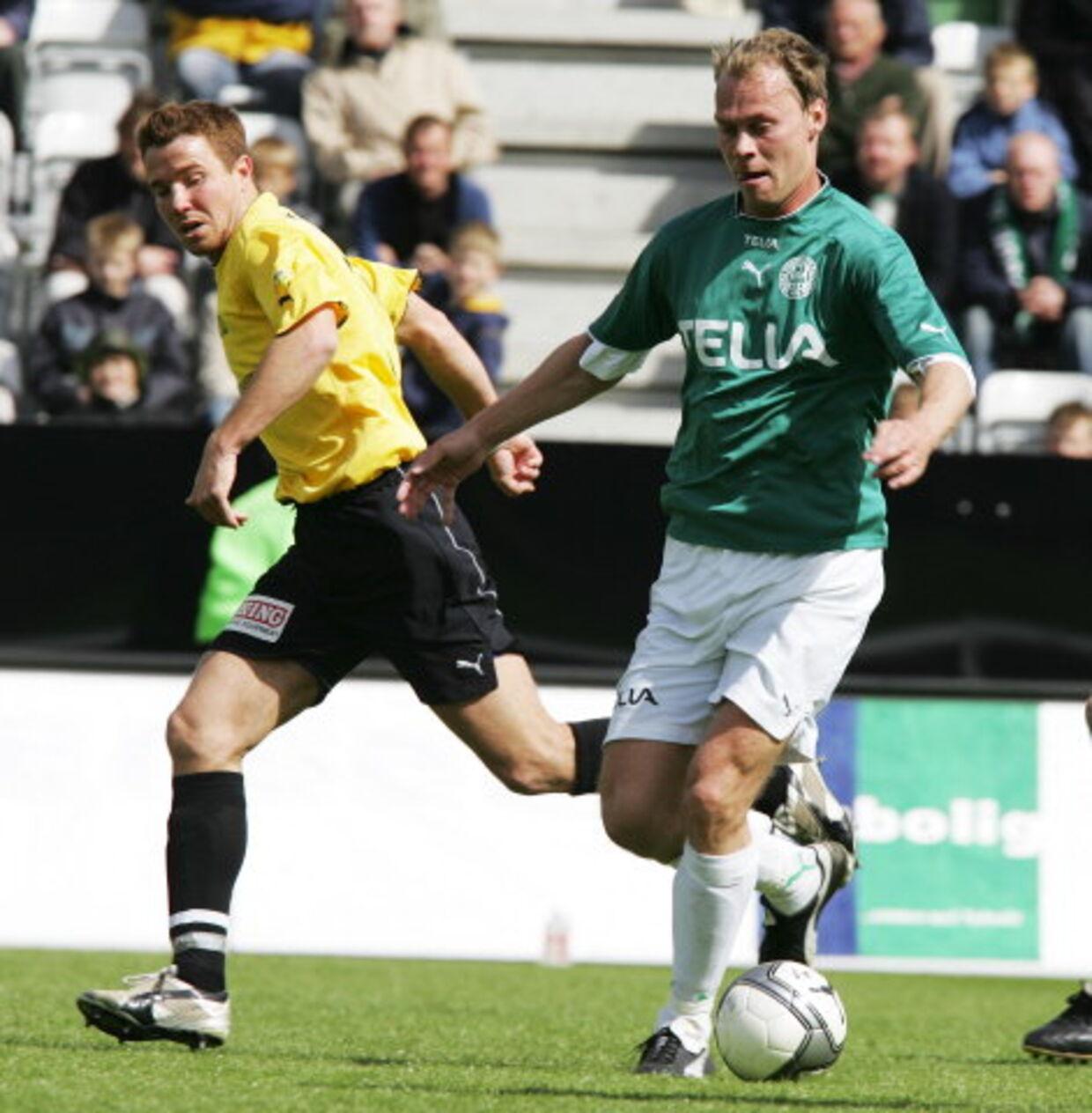 Stefan Bidstrup har blot spillet 39 SAS Liga-kampe for Viborg, og der er ikke udsigt til mange flere, inden kontrakten løber ud til sommer. <br>Foto: Henning Bagger
