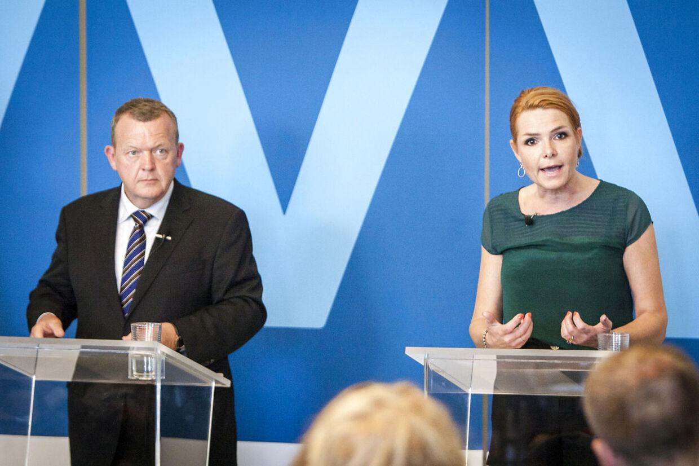 Her ses Venstres Lars Løkke Rasmussen og Inger Støjberg (arkivfoto).