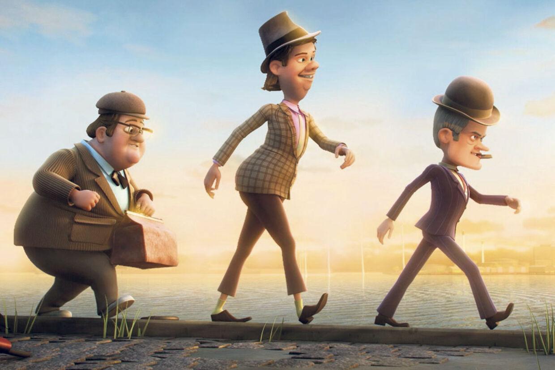 Kjeld, Benny og Egon på 3D-eventyr.