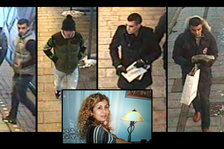 Joana Dervishi var højgravid, da hun blev sparket ned af fire mænd. Politiet mistænker fire mænd, som de har fundet på overvågningsbilleder.