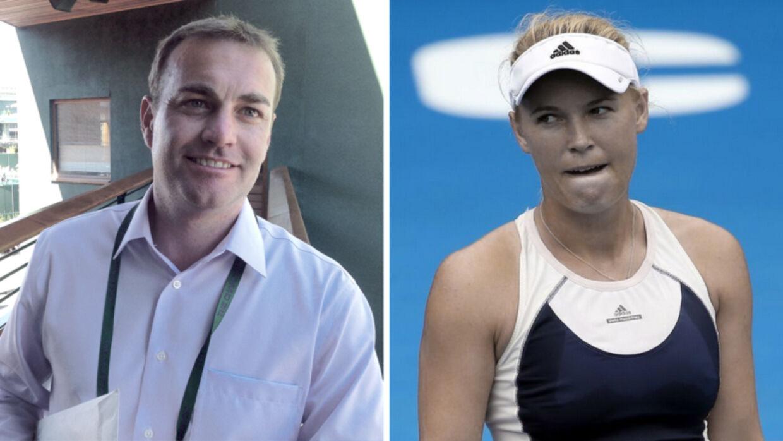 John Tobias (tv.) har i flere år skaffet Caroline Wozniacki (th.) økonomisk attraktive sponsoraftaler med store firmaer som Adidas og Rolex, men nu er han fyret fra agentfirmaet Lagardere Unlimited, og danskeren må nu selv klare de daglige problemstillinger på WTA Touren.