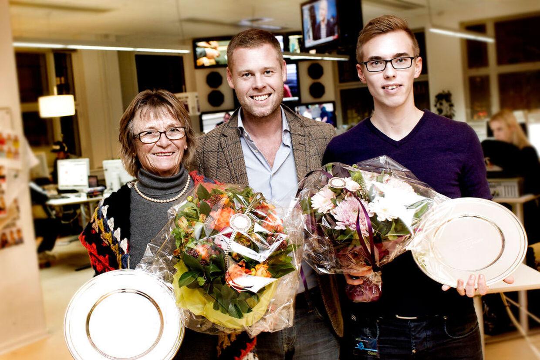 BTs sportschef, Jacob Staehelin, hylder årets E-løbere, Lise Espersen og Morten Gjerding.