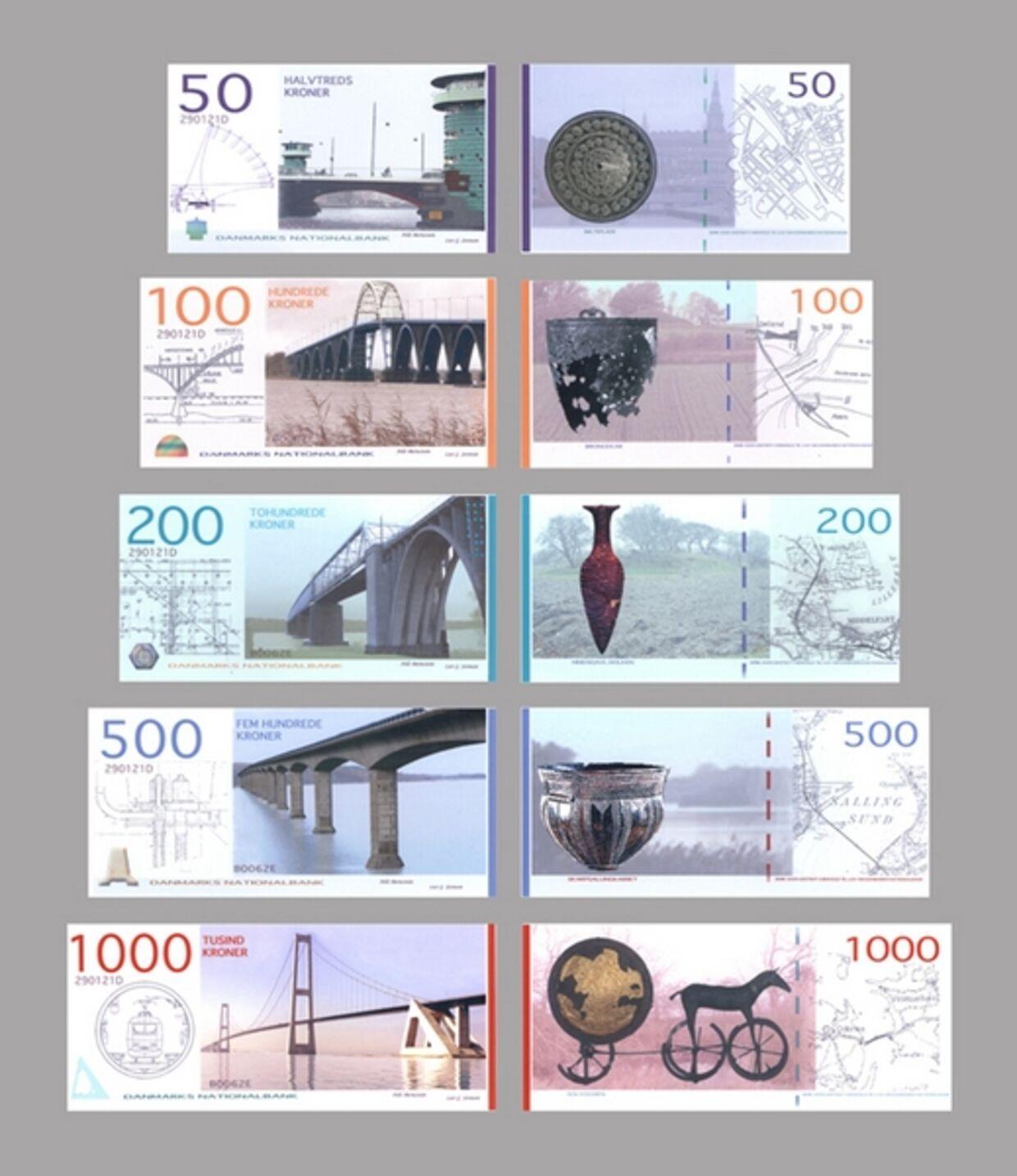 Her er vores nye pengesedler