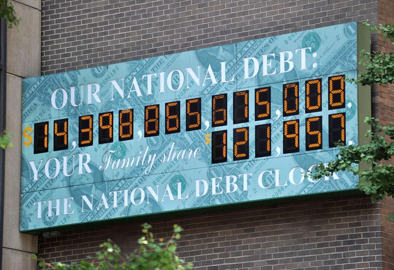 USAs nationale gældsur, der hele tiden tæller landets enorme gæld. Nu er en aftale tæt på at kunne øge de tal betydeligt.