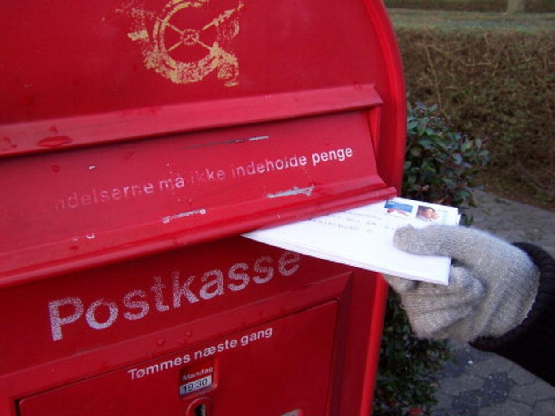 På to år er antal forsvundne breve steget med en tredjedel og det får Forbrugerrådet og Dansk Folkeparti til at lange ud efter Post Danmark. Det skriver erhvervsportalen Idag.dk. Arkivfoto: Brian Bergmann