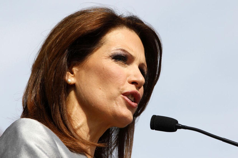 Teaparty-bevægelsens formand i den amerikanske kongres, Michele Bachmann, siger nej med stort N til budgetforliget.