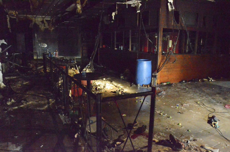 sådan så der ud i natklubben Boate Kiss efter den tragiske brand, der kostede 231 - fortrinsvis unge - mennesker livet.