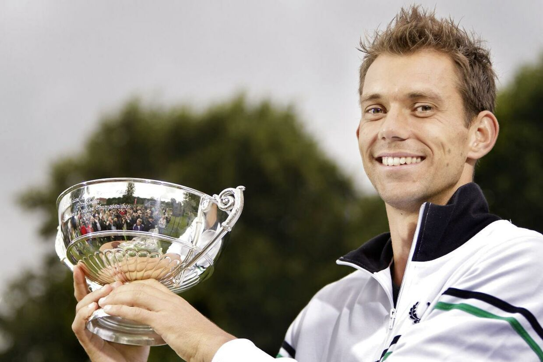 Badmintonspilleren Carsten Mogensen mener, at Frederik Løchte Nielsen (billedet) bør vinde BTs Guld for sin sensationelle herredouble-sejr i Wimbledon.