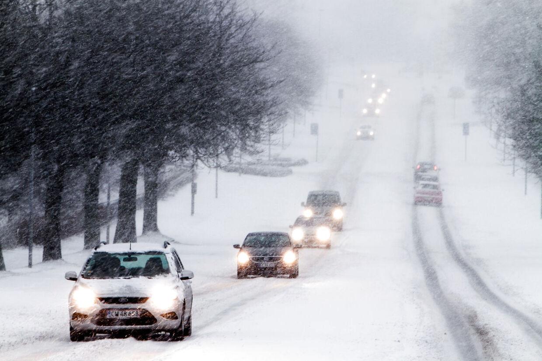 Sne i Viborg den 23. december. Hen over julen bliver det mindre dramatisk