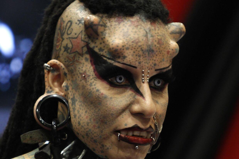 Den mexikanske tatovør Maria Jose Cristerna - kendt som vampyr-kvinden.