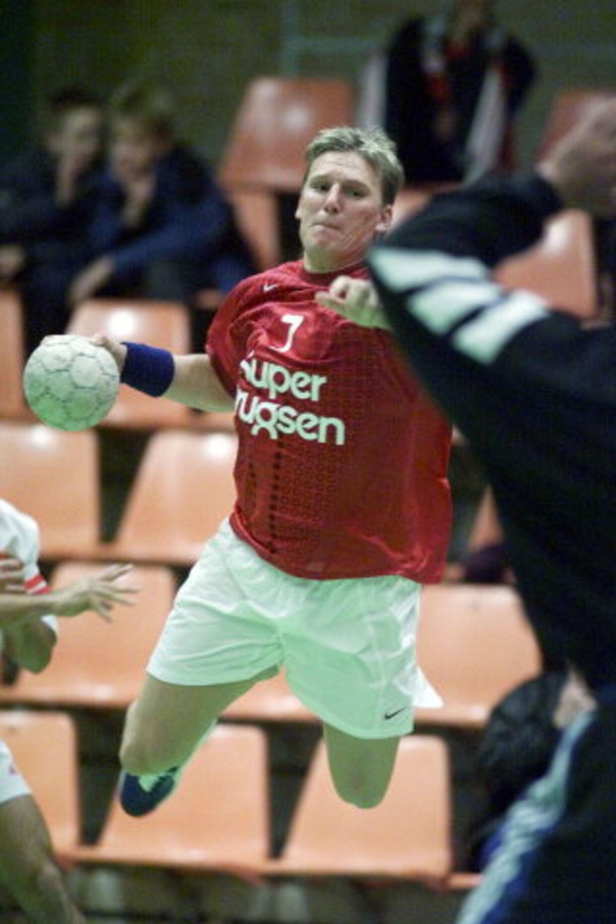 Nikolaj Jacobsen ser frem til sin toårige kontrakt hos Viborg, hvor han glæder sig til ved siden af håndbolden at undervise unge mennesker i sport og tysk. Foto: Claus Fisker