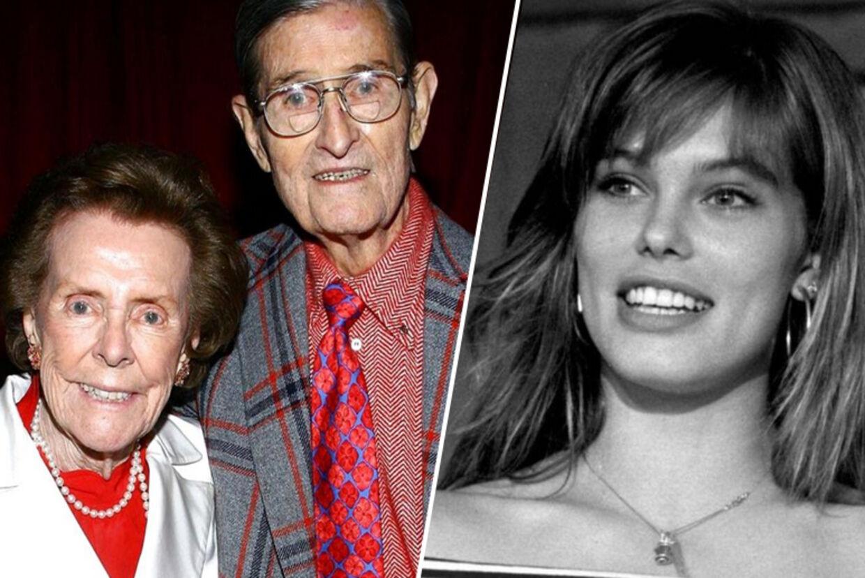 Til venstre ses Eileen Ford og hendes mand - til højre ses topmodellen Renée Toft Simonsen, som blev spottet af Eileen Ford.