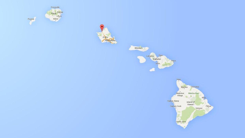 Den amerikanske stillehavsstat, økæden Hawaii.