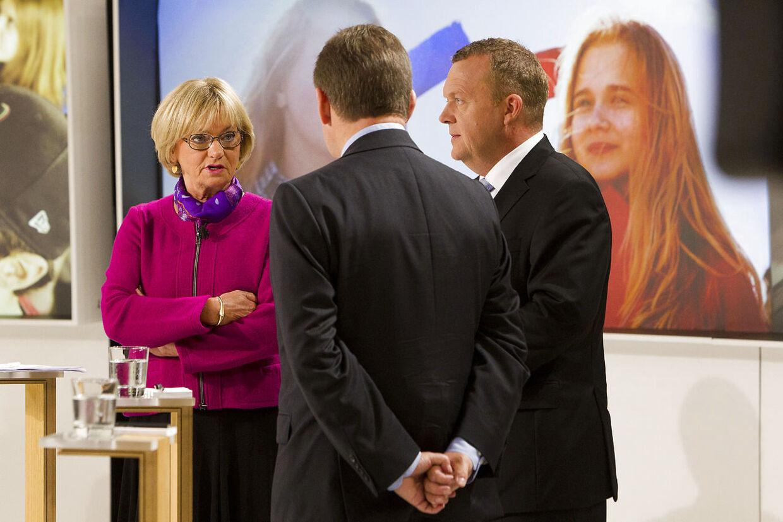 Lars Løkke Rasmussen, Pia Kjærsgaard, Lars Barfoed