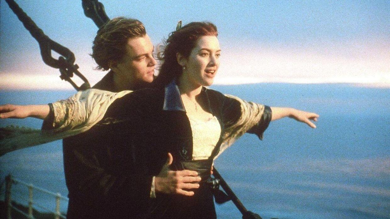 Leonardo DiCaprio og Kate Winslet i deres gennembrudsroller som henholdsvis Jack og Rose i storfilmen Titanic fra 1997.