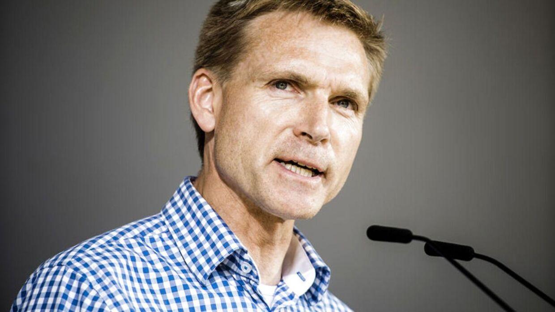 Dansk Folkepartis formand Kristian Thulesen Dahl på Folkemødet på Bornholm 2015.