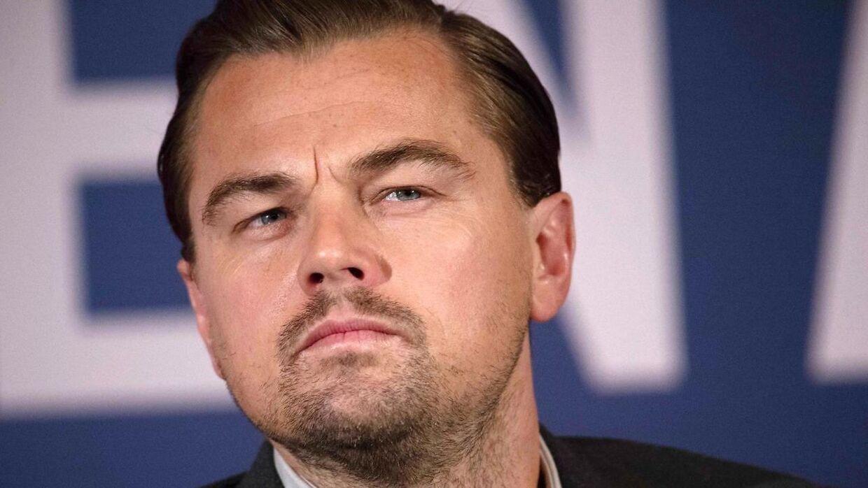 Det er tilsyneladende ikke alle sine film, som Leonardo DiCaprio er lige stolt af. Her ses han under pressekonferencen i forbindelse med sin seneste film 'The Revenant'.