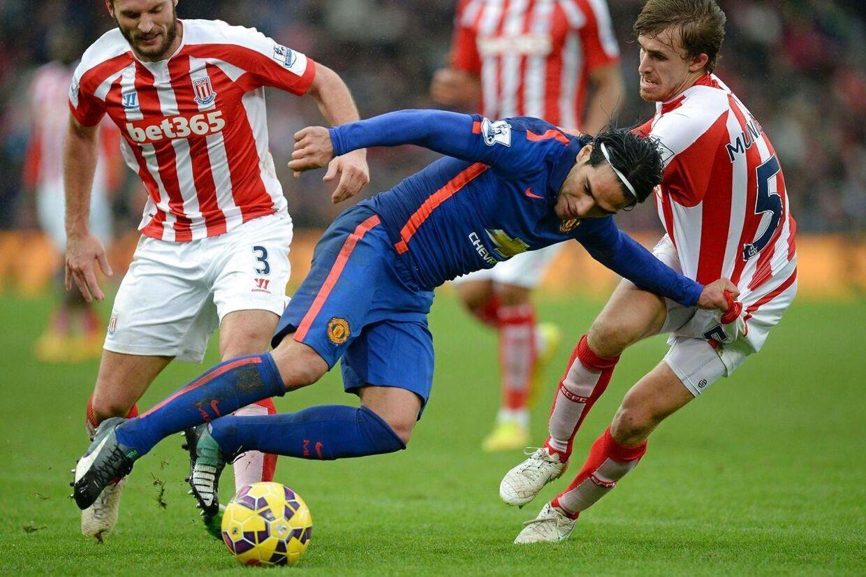 Falcao scorede sit tredje sæsonmål mod Stoke.