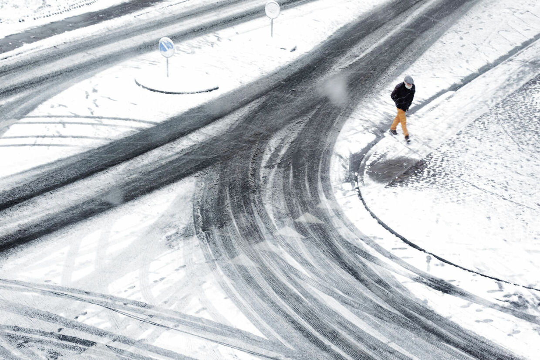 Sne over Vesterbro og Søndermarken i København søndag d. 2 december 2012. Er der faldet sne hos jer? Send dine vinterbilleder til 1929@bt.dk