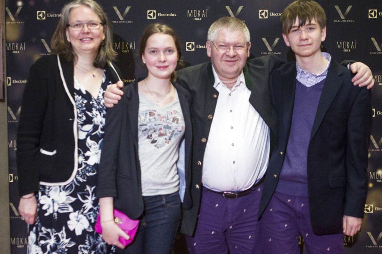 Rachel fra årgang 0 med sin familie, mor Theresia, far Lars og storebror David.