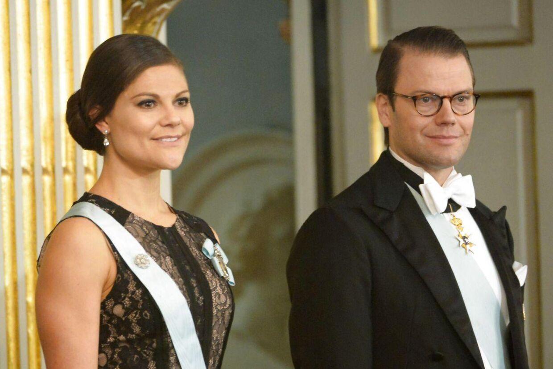 Kronprinsesse Victoria med sin mand, Daniel Westling.