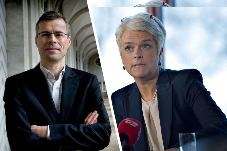 Berlingskes politiske kommentator, Thomas Larsen og Annette Vilhelmsen