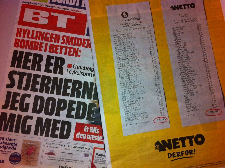 Netto langer ud efter Fakta i en ny annoncekampagne i flere aviser. Med to boner viser de, at det er 5,8 pct. billigere at handle i Netto end i Fakta.