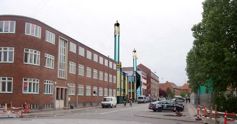 Sådan kan den kommende moské på Vibevej i Københavns nordvestkvarter måske komme til at se ud. Illustrationen er fra Københavns Kommunes Teknik- og Miljøforvaltning.