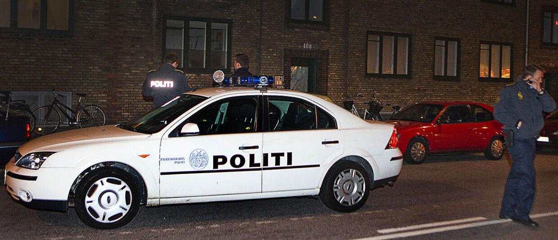 Politi, Politibil på Nørrebro, udrykning, blå blink.