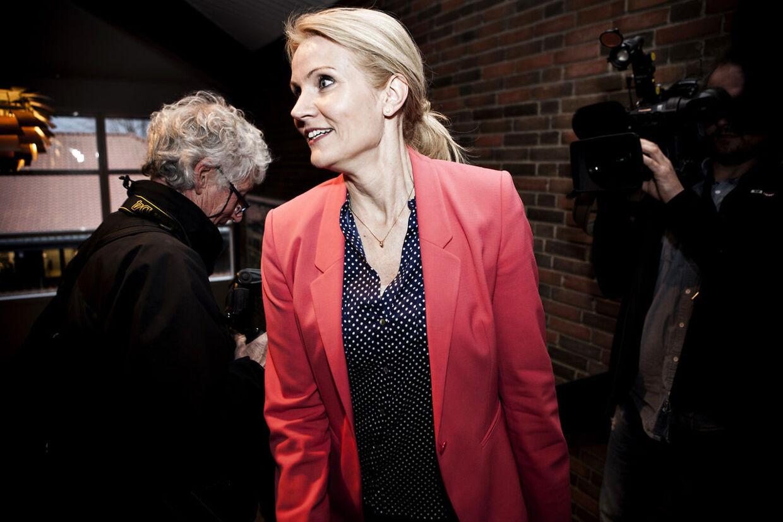 Helle Thorning-Schmidt havde grund til at smile efter mødet på Christiansminde Hotel i Svendborg. Nu ser det ud til, at der er fuld opbakning til hendes lederskab