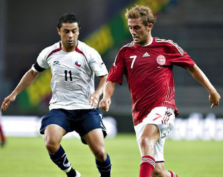 Jakob Poulsen var Danmarks bedste i nederlaget på 2-1 til Chile