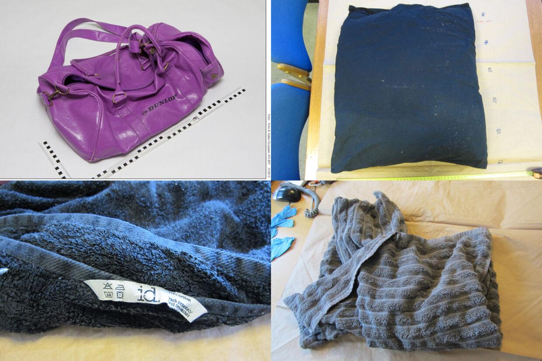 Politiet har sendt billeder af de ting, der blev fundet sammen med spædbarnet.