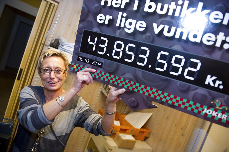 Gitta Pedersen i Butik Telma i Storegade.