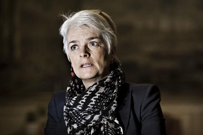 Annette Vilhelmsen, formand for SF og erhvervs- og vækstminister. Hun har siddet 100 dage på posten.