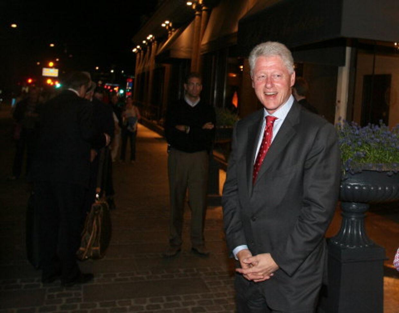 - Jeg vil bruge tiden som turist og nyde byen. Så vil jeg shoppe og skubbe lidt til økonomien, sagde Clinton til B.T.. Foto: Mogens Flindt