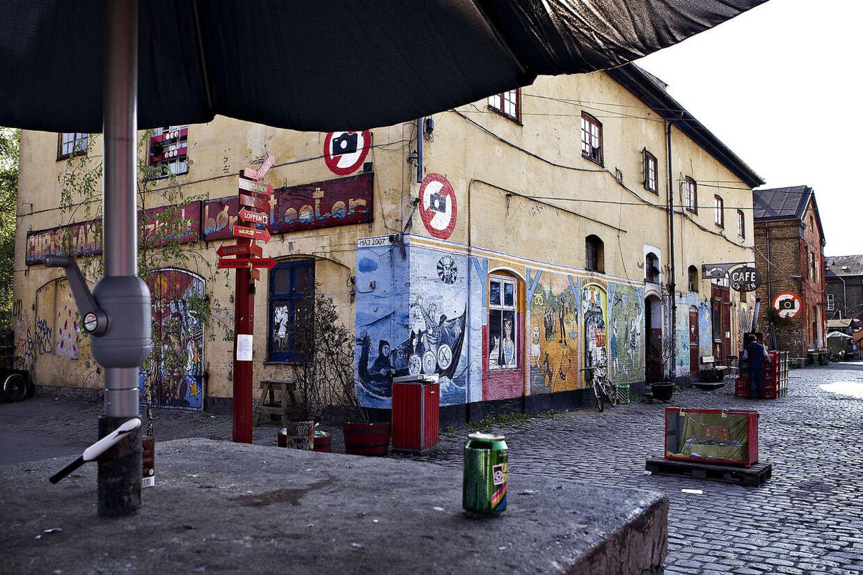 Pusherstreet på Christiania.