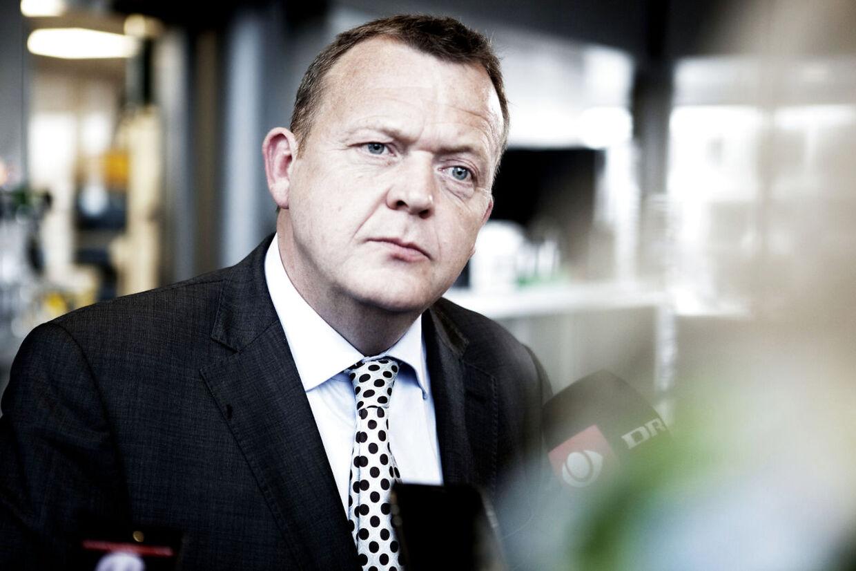 Lars Løkke Rasmussen efter frokostmøde med Harald Børsting, LO.