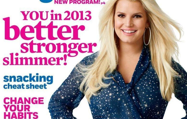 Inden babyvægten (igen) sætter sig på sidebenene, stiller Jessica Simpson op på forsiden af magasinet Weight Watchers...