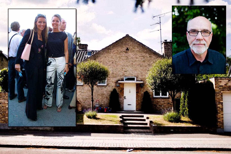 Louise Auken (tv i billedet tv) og manden har nu så travlt med at forlade dette hus i Charlottenlund, at både gartnerregninger og udgifter til malere tørres af på udlejeren, Carl Christ (th), i strid med lejekontrakten.