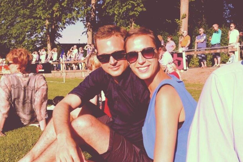 I morgen lørdag skal Michael Falchs datter Mathilde giftes med Stand-uo komiker Jesper Juhl. (Foto: privat)