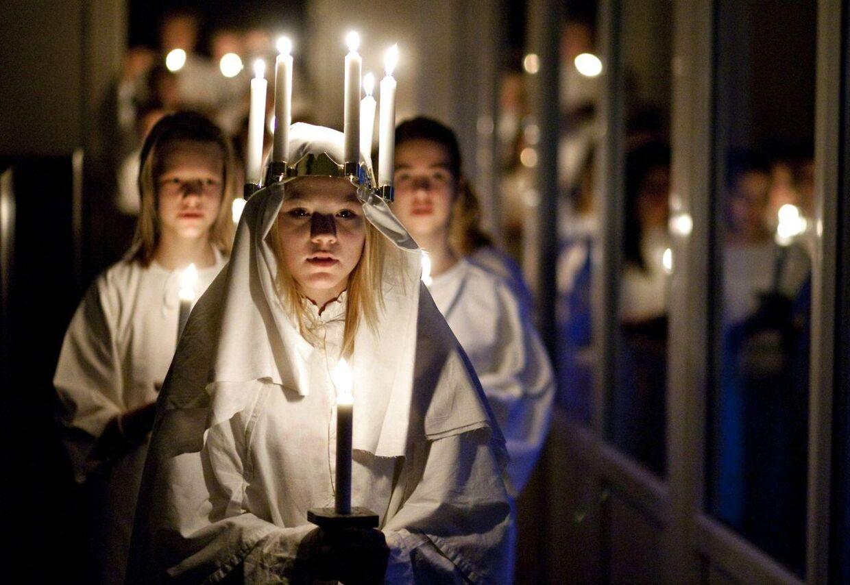 En skole i Sverige har forbudt drenge at være Lucia-brud. Arkivfoto.