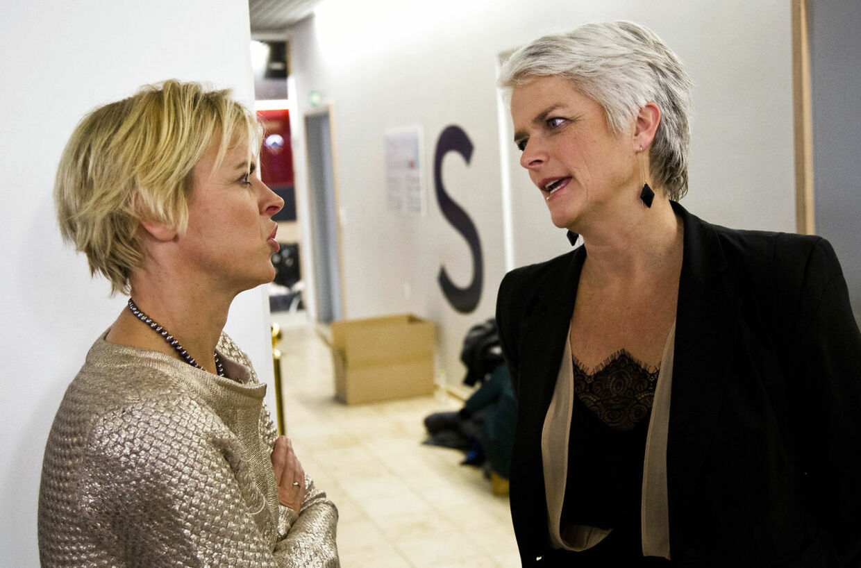 Amerikansk valg 2012. Valgfest hos TV2 på Teglholmen. Annette Wilhelmsen og Lykke Friis
