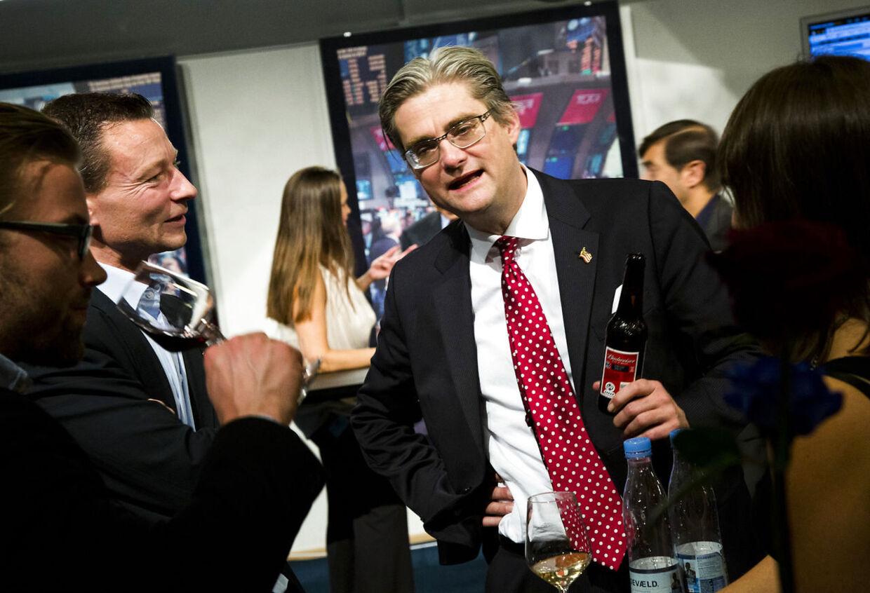 Stor valgfest hos TV2 i København tirsdag den 6. november 2012. Her Søren Pind. (Foto: Martin Sylvest Andersen/Scanpix 2012)