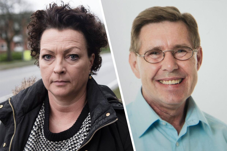 Helle Møller mistede sin mand, Jan (th.), da en 80-årig mand - der allerede havde en betinget dom - mistede kontrollen med en 2.300 kilo tung skurvogn.