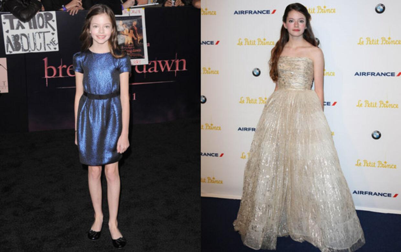 """Der er sket ikke så lidt med Mackenzie Christine Foy, siden hun trådte frem som en forsigtig ung pige i forbindelse med premieren på """"Twilight - Breaking Dawn"""" i 2011 og så den selvsikre unge teenager, der dukkede op på den røde løber i Cannes. Foto: All Over"""