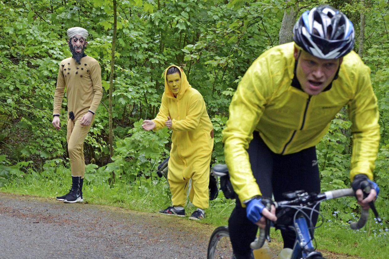 Lidt Tour de France er der over bjergløbet fra Vang Havn til Hammeren Fyr, Danmarks vildeste 8,4 kilometer.