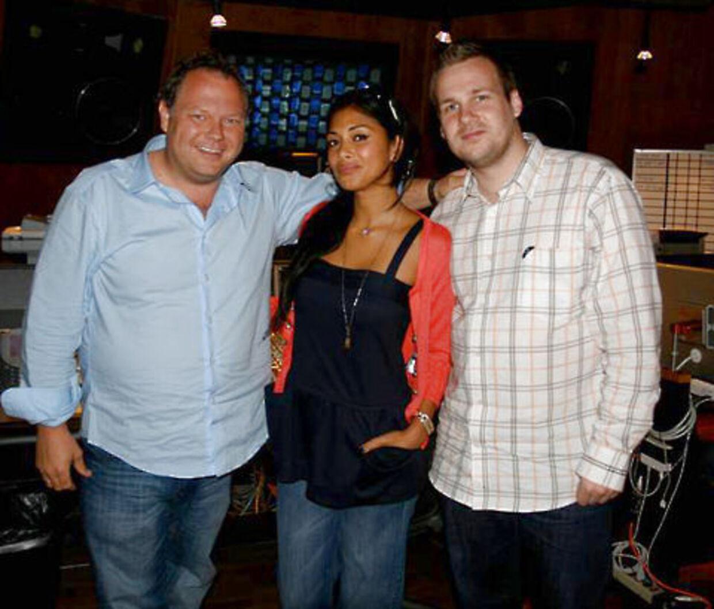 Cutfather og Jeberg sammen med Nicole Scherzinger