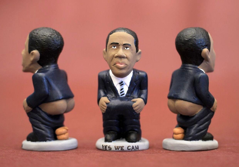 'Caganer'-figuren, der viser præsident Obamas toiletbesøg, er en tradition i Catalonien. Den symboliserer frugtbarhed og håb.