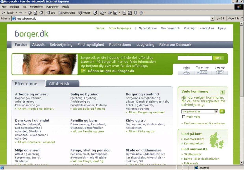 Borger.dk er navnet på portalen, der onsdag blev åbnet for offentlig søgning.