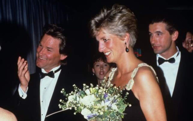 Kurt Russell (tv) mødte daværende prinsesse Diana i 1991 i forbindelse med verdenspremieren på Backdraft.